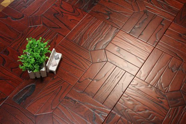 SPH010 榆木 圣保罗定制拼花地板 健康地板