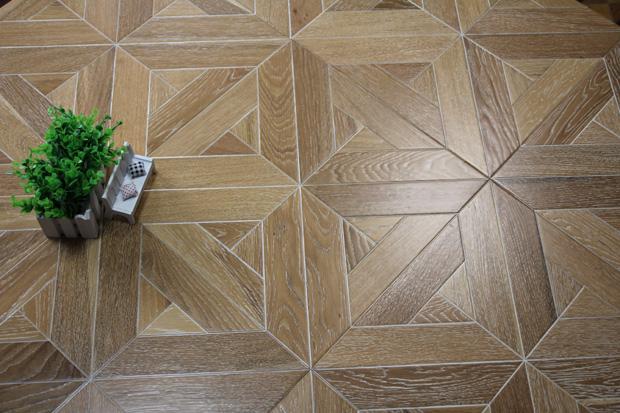 SPH033-2 柞木(白油) 圣保罗定制拼花地板 健康地板