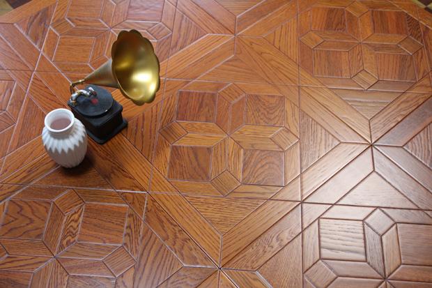 SPH045 柞木 圣保罗定制拼花地板 健康地板