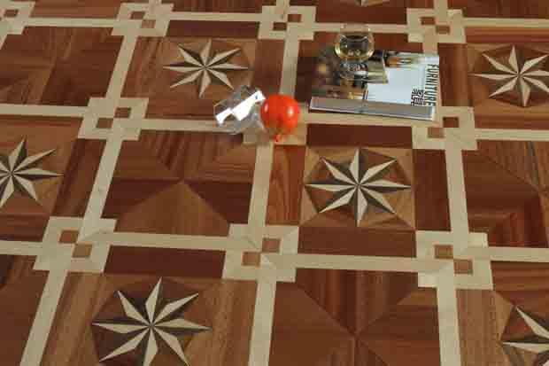 SPH071 沙比利 黑胡桃 白枫 圣保罗定制拼花地板 健康地板