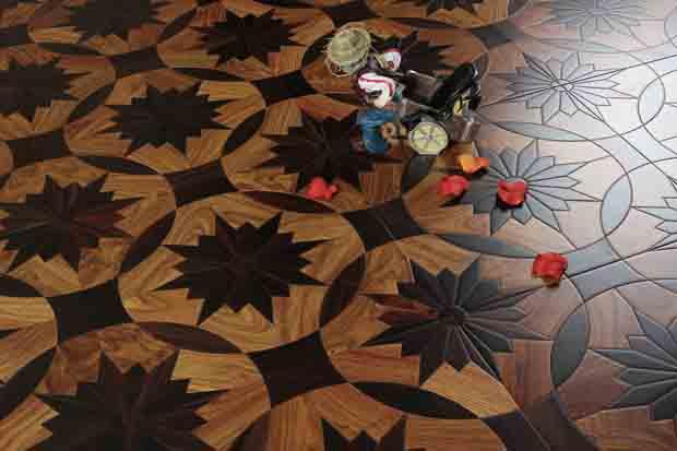 SPH078 酸枝 亚花梨 圣保罗定制拼花地板 健康地板