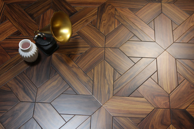 SPH209 红酸枝 圣保罗定制拼花地板 健康地板