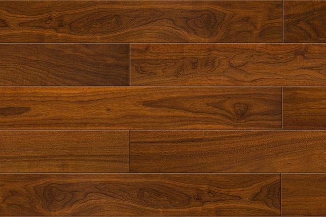 新三层黑胡桃深色黑胡桃  圣保罗三层实木  健康地板